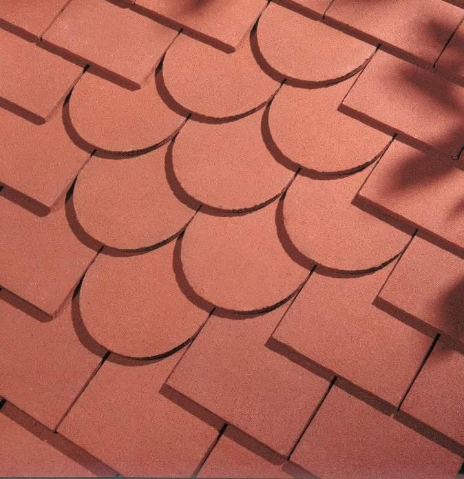 Dreadnought Clay Plain Roof Tiles - Red (sandfaced)
