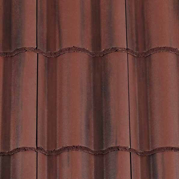 Redland Regent Roof Tile - Rustic Red