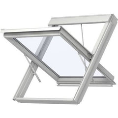 VELUX GGU SK06 SD0W140 White Polyurethane Smoke Ventilation System for Tiles (114 x 118 cm)