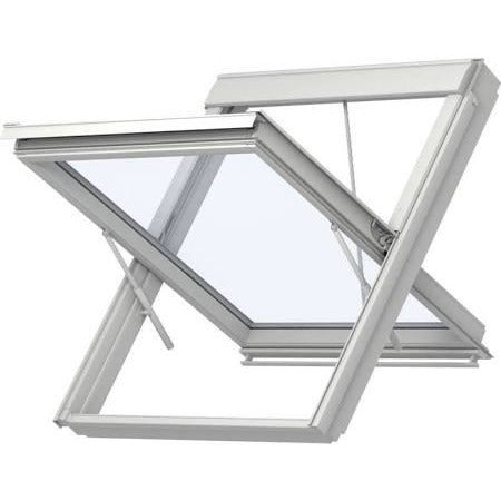 VELUX GGU UK08 SD0L140 White Polyurethane Smoke Ventilation System for Slate (134 x 140 cm)