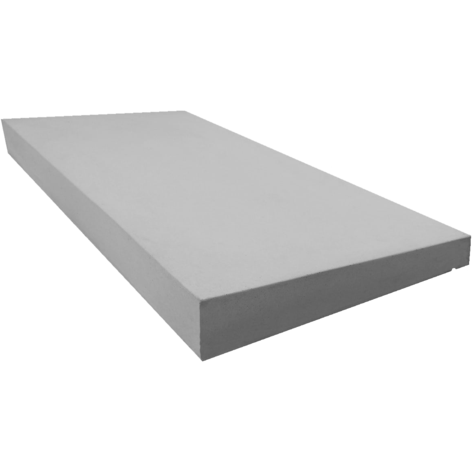 Castle Composites Single Weathered Coping Stones 600 x 300mm - Light Grey