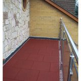Castle Composites Castleflex Rubber Promenade Tiles - Rustic Red