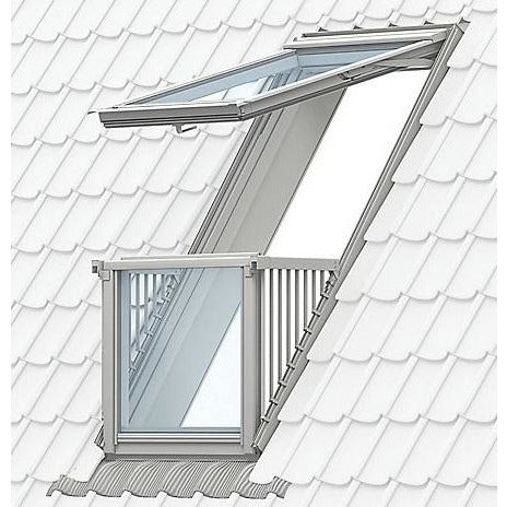 Velux Gdl Sk19 Sd0l001 White Painted Cabrio 174 Balcony 114