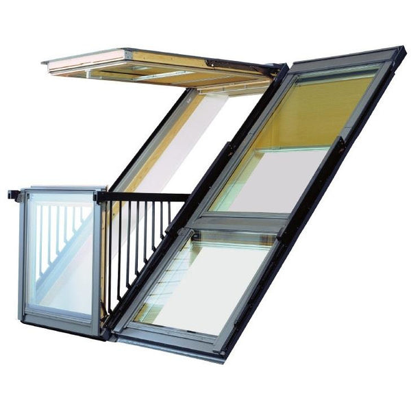 velux gdl pk19 sk0l222 white painted cabrio balcony 198. Black Bedroom Furniture Sets. Home Design Ideas
