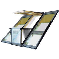 VELUX GDL SK19 SK0L322 White Painted Cabrio® Balcony (362 x 252 cm)