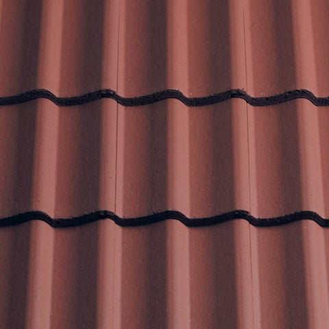 Sandtoft Concrete Double Pantile - Terracotta Red (smoothfaced)
