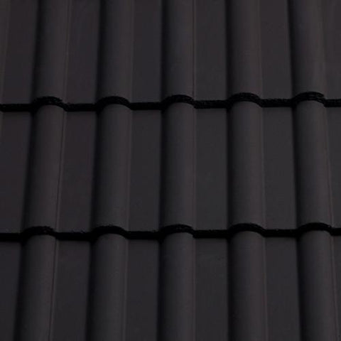 Sandtoft Concrete Double Roman Roof Tile - Dark Grey (smoothfaced)
