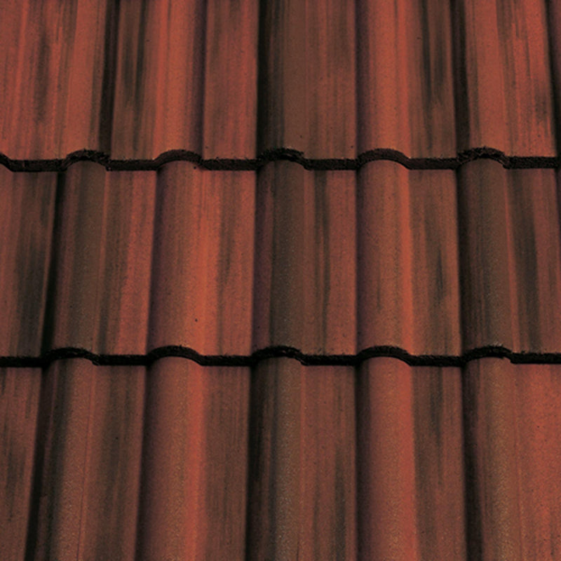 Sandtoft Concrete Double Roman Roof Tile - Rustic (smoothfaced)