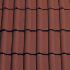 Sandtoft Concrete Double Roman Roof Tile - Terracotta Red (smoothfaced)
