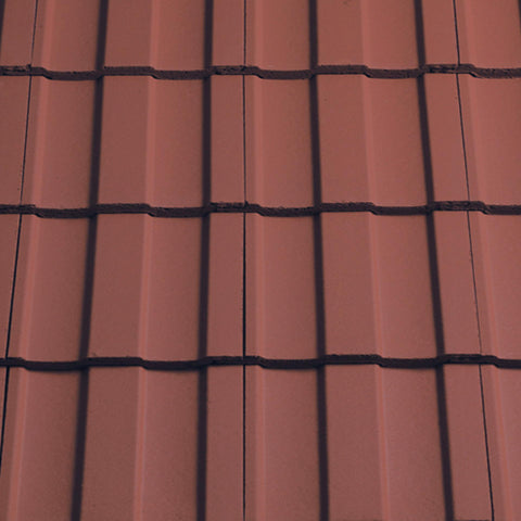 Sandtoft Lindum Roof Tiles - Terracotta Red (smoothfaced)