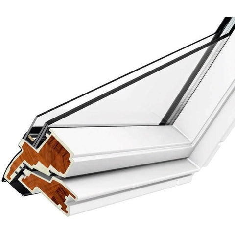 velux ggu fk06 0070 white centre pivot roof window roofing outlet. Black Bedroom Furniture Sets. Home Design Ideas