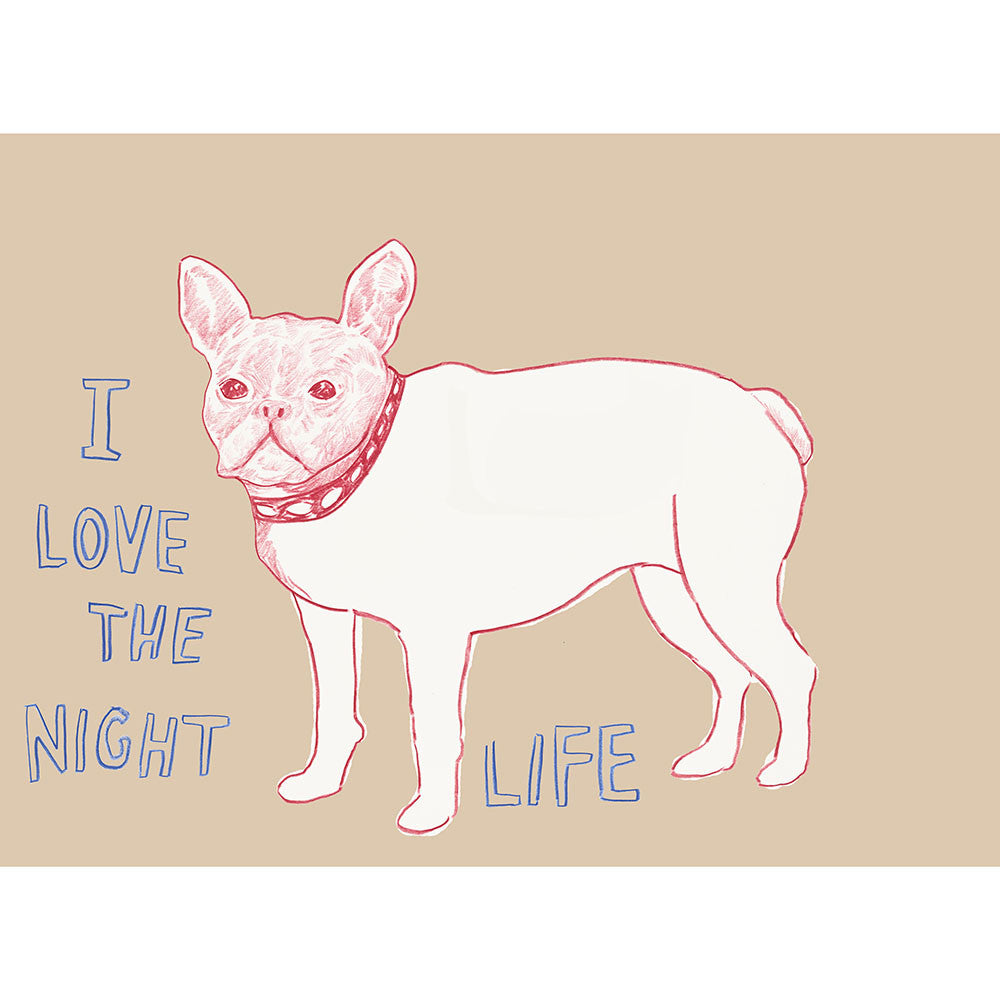 """I Love the Nightlife"" Silkscreen by Dave Eggers"