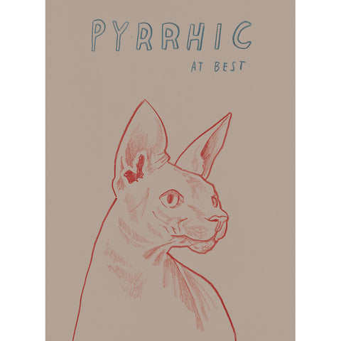 """Pyrrhic At Best"" Silkscreen by Dave Eggers"
