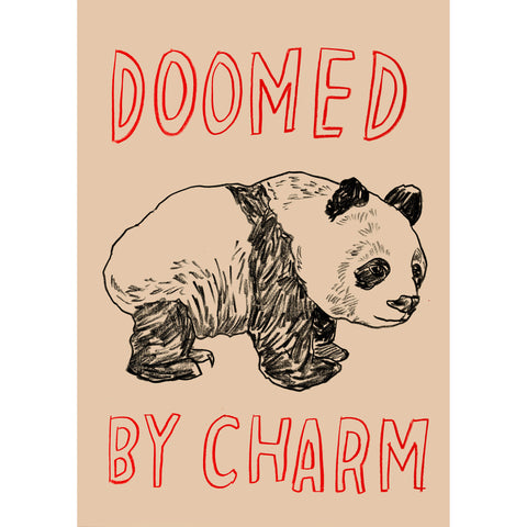 """Doomed By Charm"" Silkscreen by Dave Eggers"