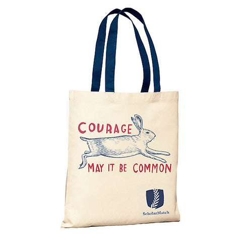 """Courage—May It Be Common,"" Tote Bags by Dave Eggers."