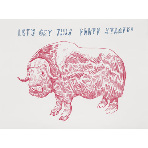 """Let's Get This Party Started"" Silkscreen by Dave Eggers"