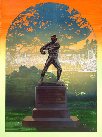 """The Ball Thrower (with Candlestick Park)"" by Robert Minervini"