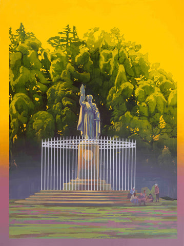 """William McKinley Monument (with Artists Rendition of Barrier Fence)"" by Robert Minervini"