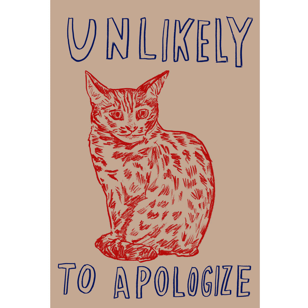 """Unlikely to Apologize"" — Silkscreen by Dave Eggers"