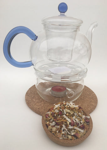Stea Glass Teapot with infuser!!! and 1 Bag of tea and get 2 free bag of tea!!