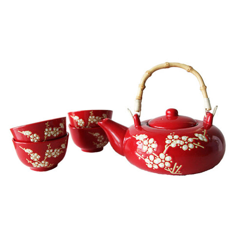 CHINESE TEAPOT SET 4 CUPS + INFUSER