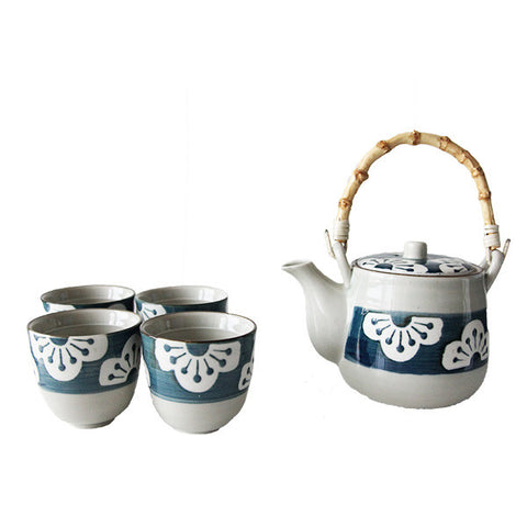 FLORAL TEAPOT SET 4 CUPS + INFUSER