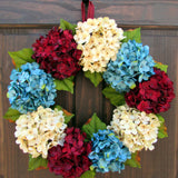 Patriotic Hydrangea Wreath with Loop