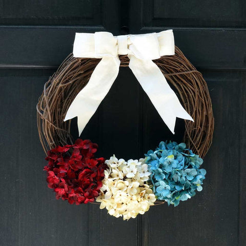 Rustic Patriotic Grapevine Wreath