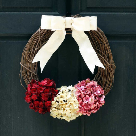 Rustic Valentines Day Grapevine Wreath