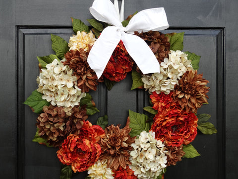 Fall / Thanksgiving Front Door Wreath; 24 Inch