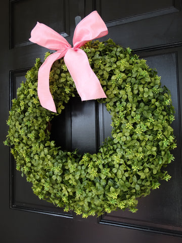 Spring / Summer Boxwood Wreath