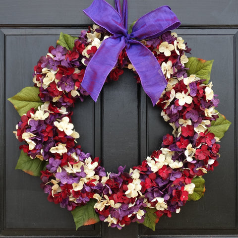 Late Summer / Fall Marbled Hydrangea Wreath