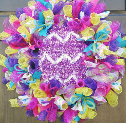 Easter Egg Deco Mesh Wreath