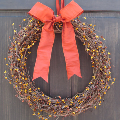 Fall Pip Berry Wreath
