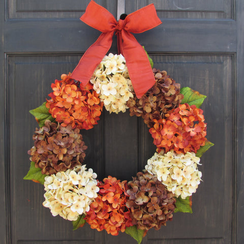 Thanksgiving / Fall Hydrangea Wreath