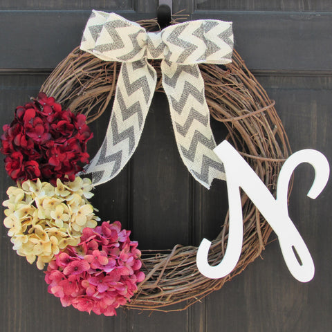 Valentines Day Initial Wreath
