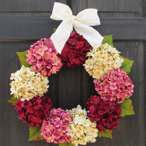 Valentines Day Hydrangea Wreath