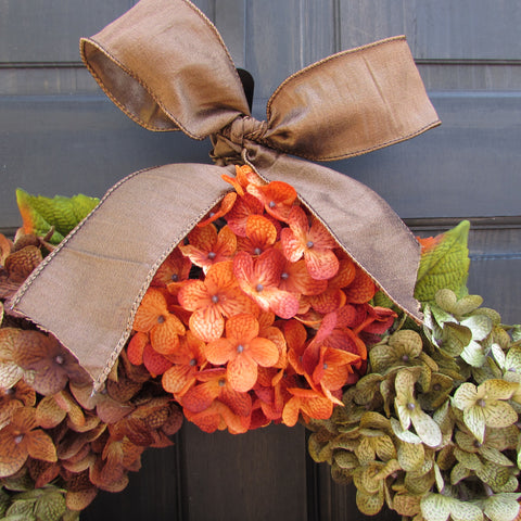 Fall / Thanksgiving Hydrangea Wreath