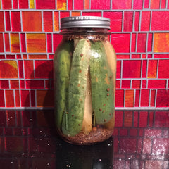 Refrigerator Pickles! Quick. Crunchy. Delicious!