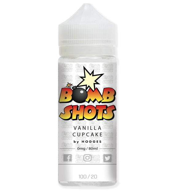 Vanilla Cup Cake Bomb Shots By Hodges Short Fill E-Liquid (80ml)120ml Hodges e-Juice hodges-home-brew