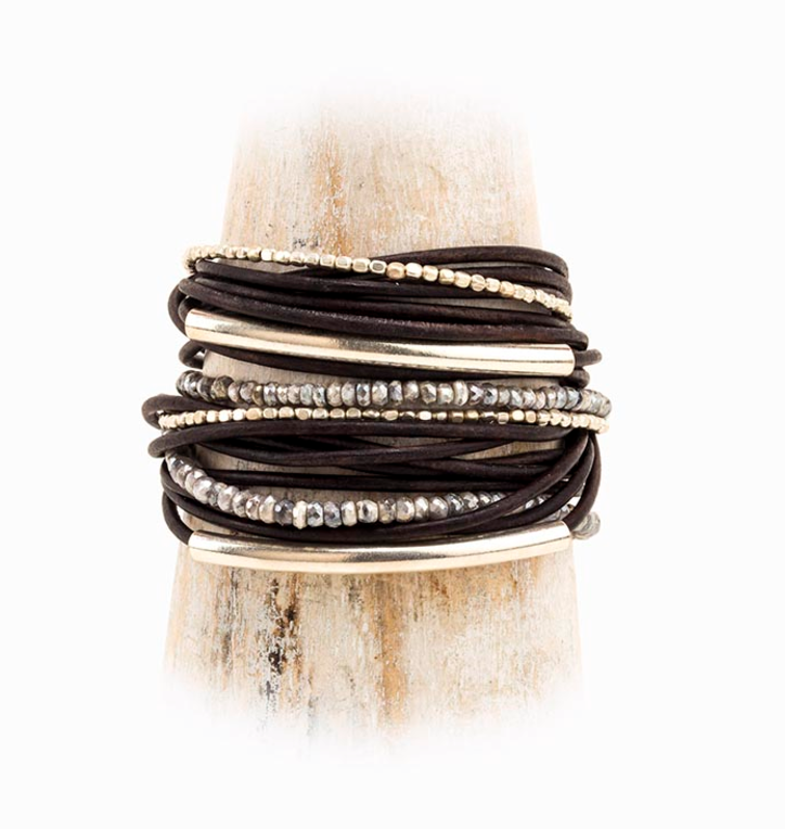 Alp Leather Cord Wrap Bracelet
