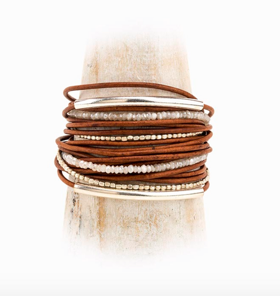 Lovell Leather Cord Wrap Bracelet