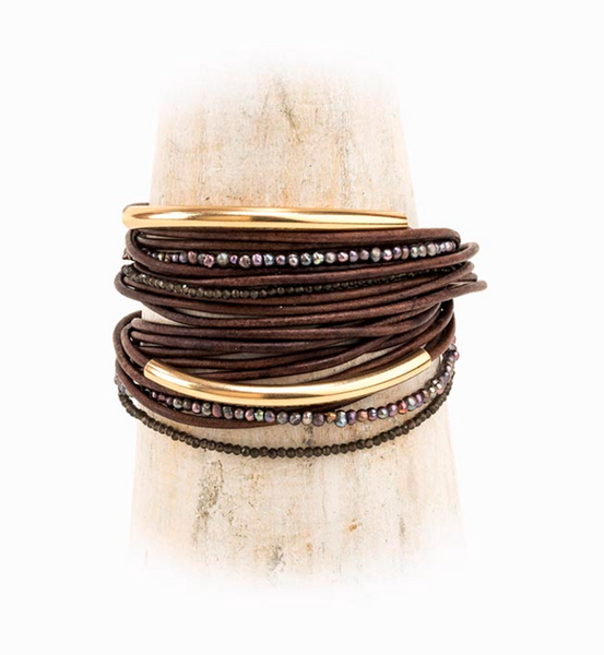 Luca Leather Cord Wrap Bracelet