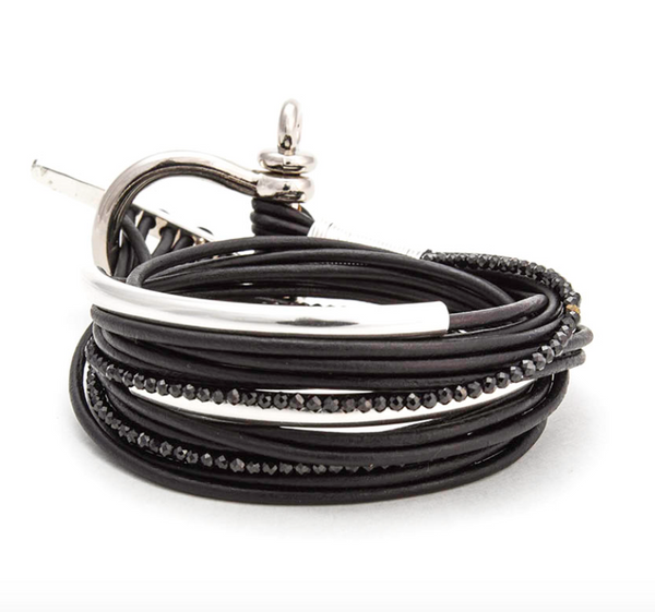 Nuance Leather Cord Wrap Bracelet