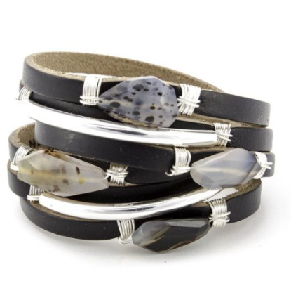 Berlin Classic Leather Shred Bracelet
