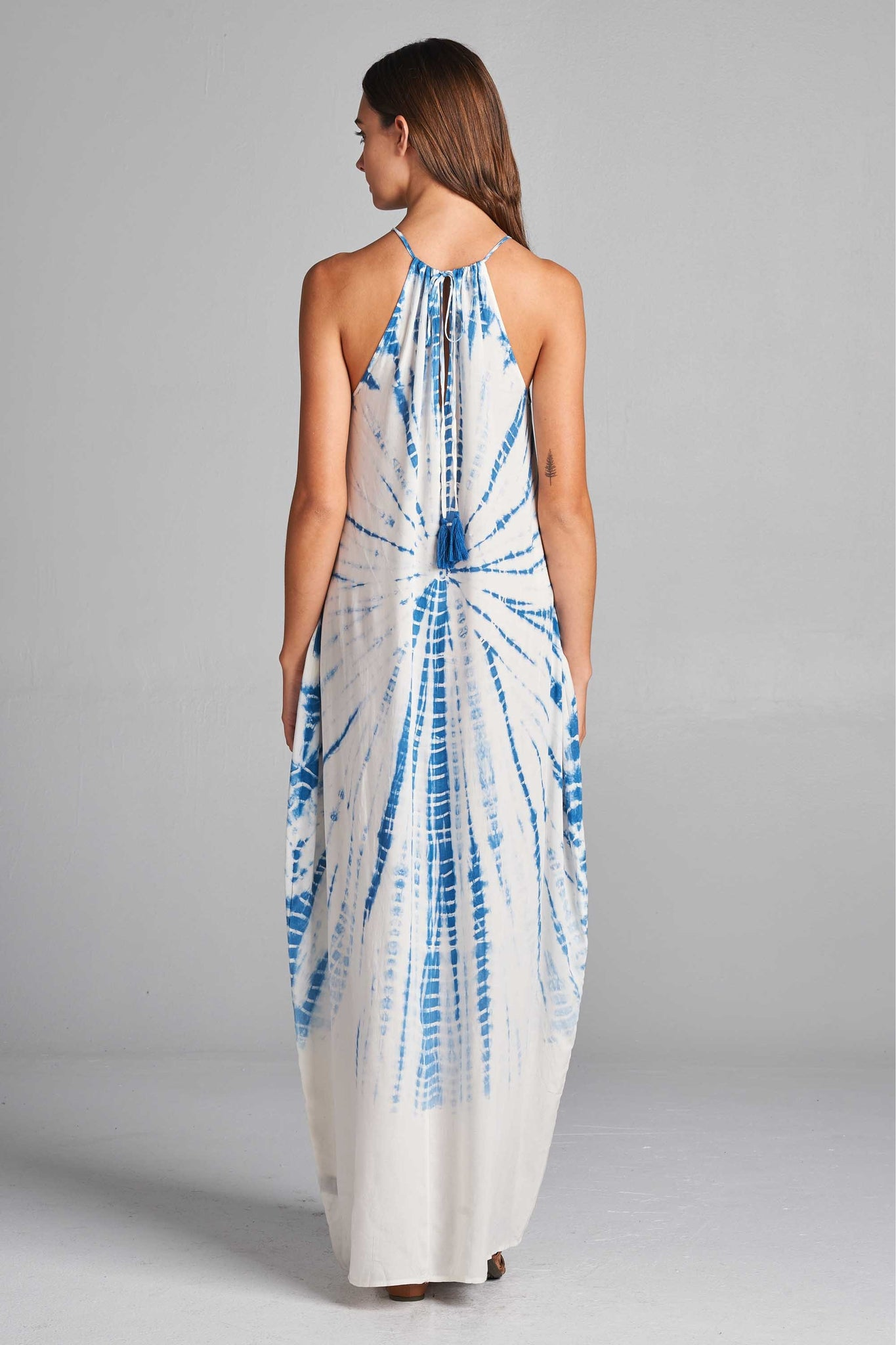 Spirograph Tube Maxi - White & Blue Dyed