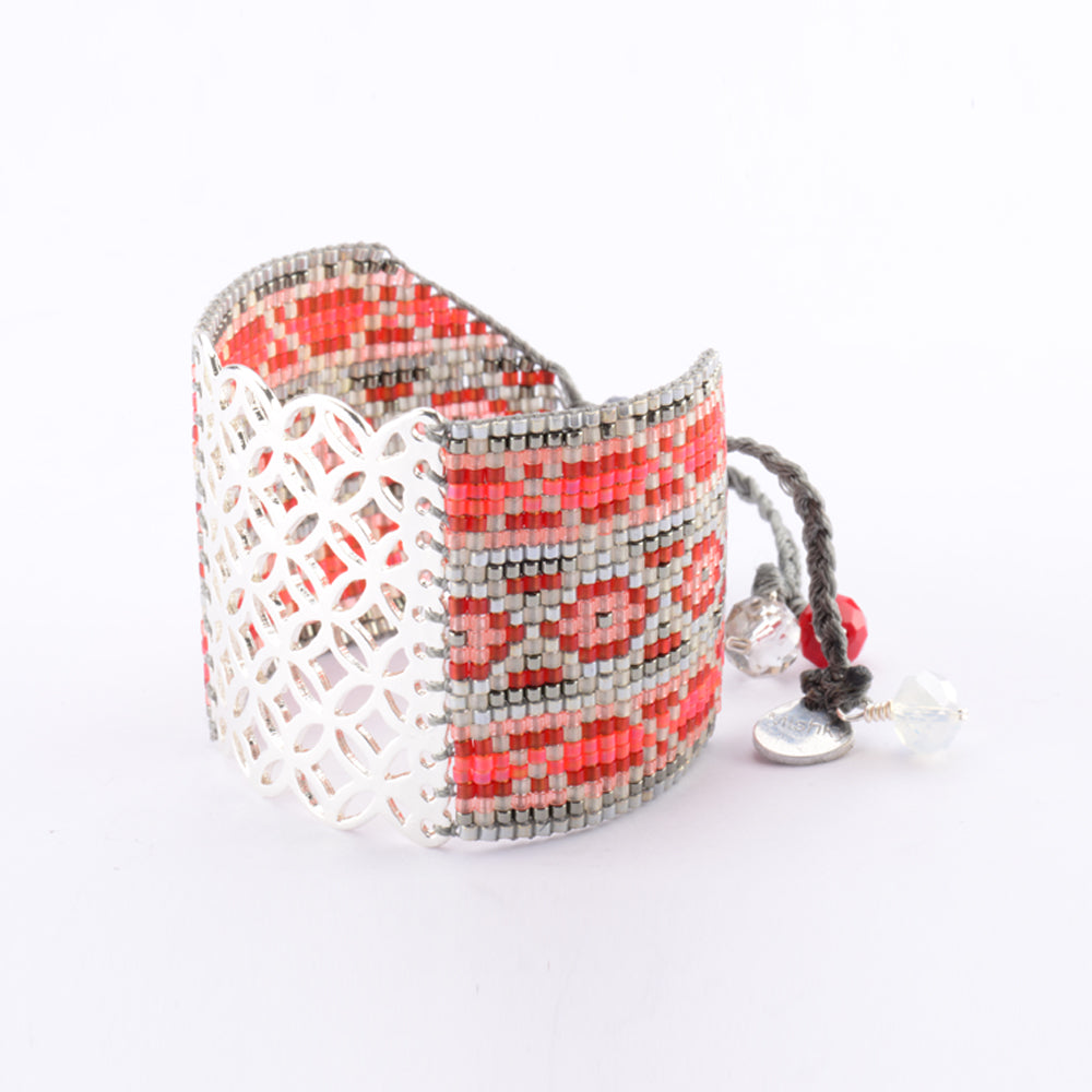 """Lana"" Glass Bead Woven Friendship Bracelet"