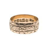 On This Day In 1897 - Victorian 9K Rose Gold Engraved Wedding Ring (VICR123)