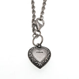 Forget Me Knot - Victorian Sterling Silver Heart Charm Bracelet (VICB021)