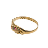 Edwardian Scrolls - Edwardian 18K Gold Ruby & Diamond Ring (EDR051)